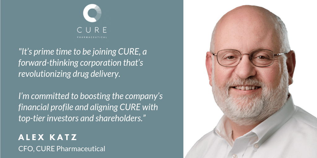 CURE Pharmaceutical Names Veteran Executive as Chief Financial Officer