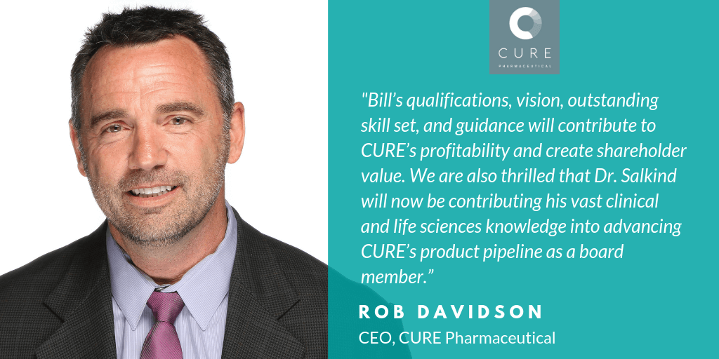 CURE Pharmaceutical Appoints Chairman, Adds Member to Its Board of Directors