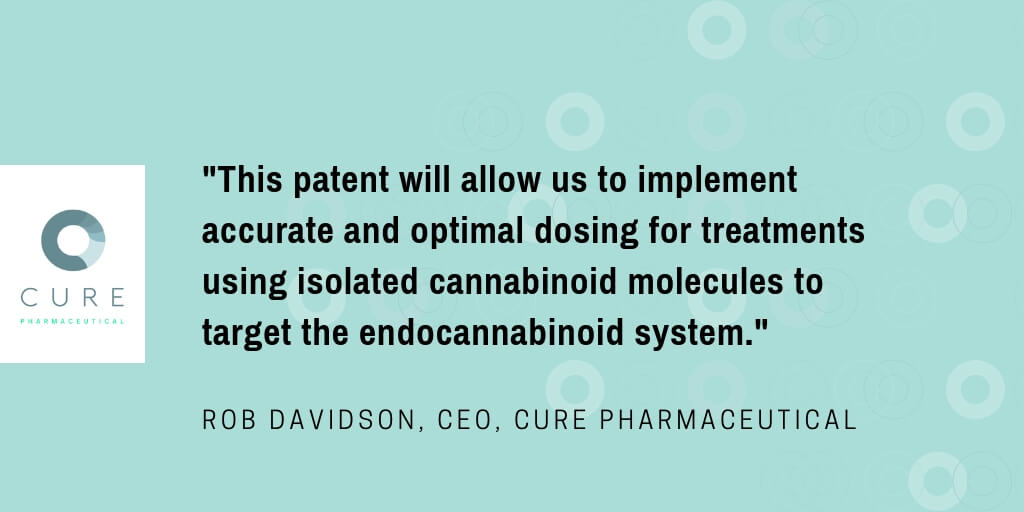 CURE Pharmaceutical Secures Patent for Oral Thin Film  Containing Bioactive Cannabinoid Molecules